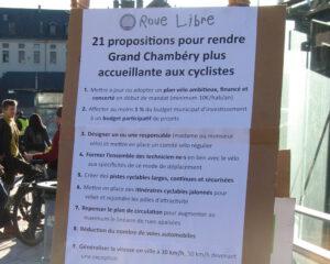 21 propositions pour rendre Grand Chambéry plus accueillante aux cyclistes